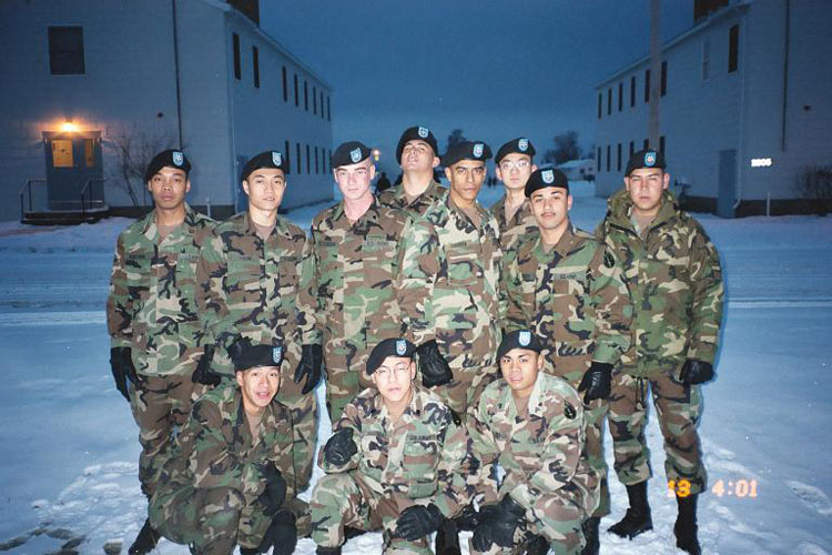 Iraq War Photo. This was the first picture we ever took as a platoon. March 03 in Ft. McCoy, Wisconsin.