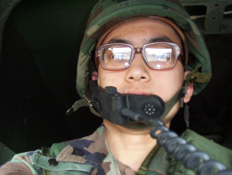 Iraq War Photo. I was the radio operator on this particular training exercise. Note the huge military issued BCGs (Birth Control Glasses)