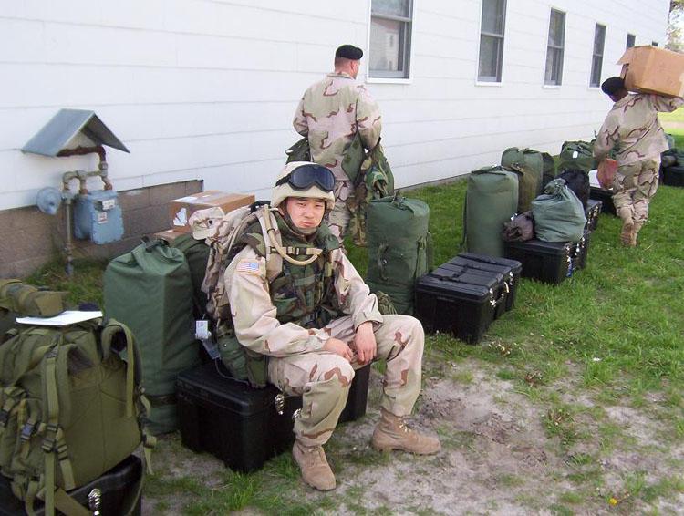 Iraq War Photo. We finally got the call to leave in May. Here we are, all packed up with everything we've been living in for the past 3 months and everything we'll live with for the next 12 months, ready to go.