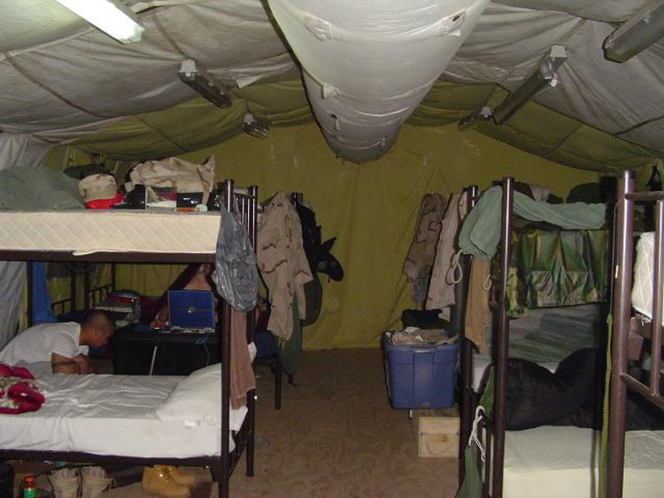 Iraq War Photo. This is one of the first pictures I took in Djibouti. Here, you see that we managed to grab a 8 men tent, small enough to have CPT Guardiano stay in another tent.