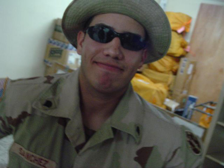 Iraq War Photo. Sanchez and I had the only 2 digital cameras in the entire platoon. We would take turns taking pictures for each other.