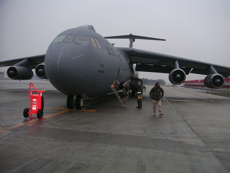 Iraq War Photo. THE BRAKES ARE ON FIRE! GET OUT OF THE PLANE NOW!!! It didn't happen this time, though.