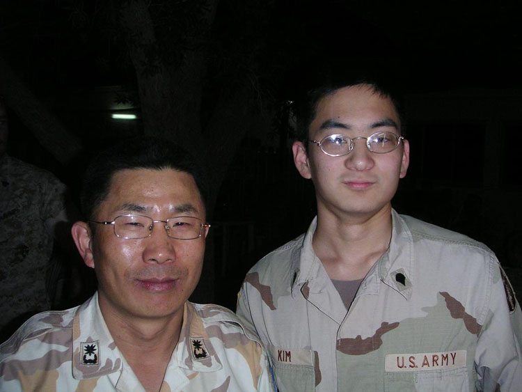 Iraq War Photo. I think his name was Major Kim. I'm not perfectly sure. But he was the only other Korean in the Djiboutian base that was in the Korean Army. There was another Korean on base, but he was a Marine and he didn't like me very much. Probably because he felt like I was intruding on his territory of koreanness. I really didn't care though.