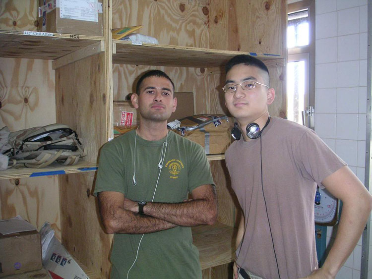 Iraq War Photo. Munoz. When I was uploading this picture, I was increasing frustrated at the inability to recollect people's names. But it's weird, now that I'm typing it out, remember his name. And I should because we were so close, and he was from Long Beach, CA, not far from where I grew up. He was part of HMH-464, Marine Super Stallion helicopter battalion.