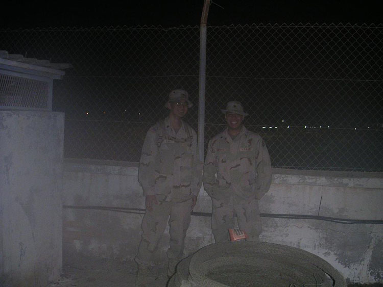 Iraq War Photo. The humidity really took a toll on preceding shots but this one came out ok. All the lights you see in the background are from the military base, not from Djiboutian towns. When we landed on Djibouti, we would rarely even know we were landing until we actually hit the ground. That's how dark that country was. That was better for us anyway, for security reasons. We would still land in full red light only security.