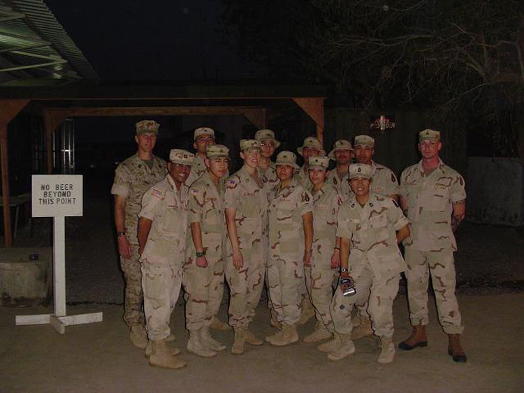 Iraq War Photo. We didn't take a lot of pictures in Djibouti as a platoon, but here we are, soon after we had just promoted a couple of us to Sergeants.