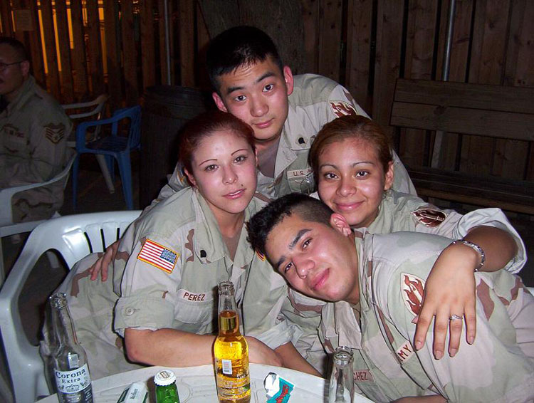 Iraq War Photo. I didn't drink very often after the Soldier of the Quarter board, but I was always around the guys.
