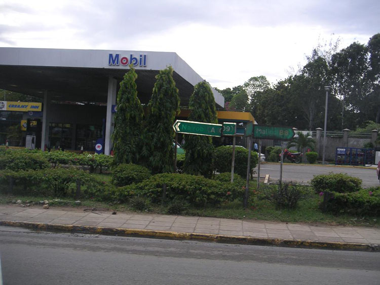 Iraq War Photo. Mobil station in Kenya. This is the most modern facility we ran into the entire stay.