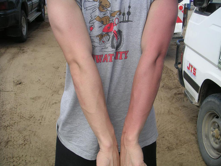 Iraq War Photo. Even still, having pulled left side security the entire trip, my left arm is thoroughly sun burned.