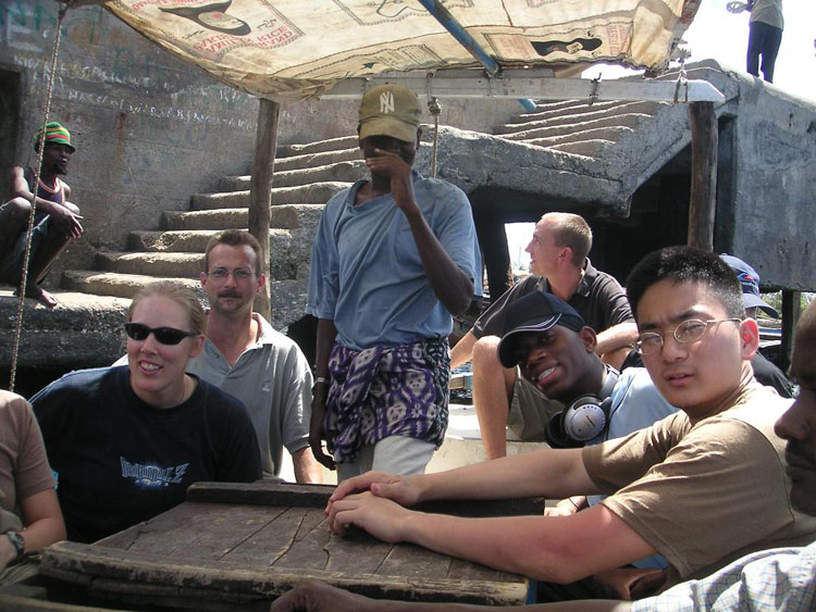 Iraq War Photo. We took a trip on a native boat across a river.