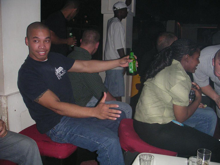 Iraq War Photo. Club Hermes, still in Djibouti. Roberson didn't try anything this night because our Captain would restrict us on a midnight curfew, on the last night we would be in Djibouti.