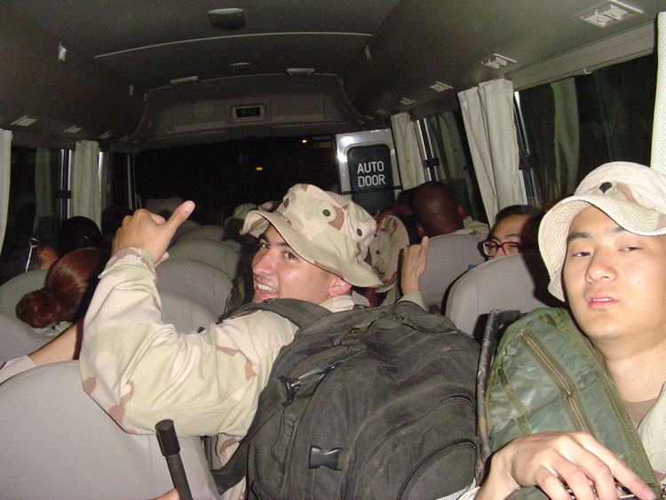 Iraq War Photo. This is our bus ride to the airport in Camp Lemonier. By the way, the only airport that Djibouti has belongs to us, as in we created an entire base around it.