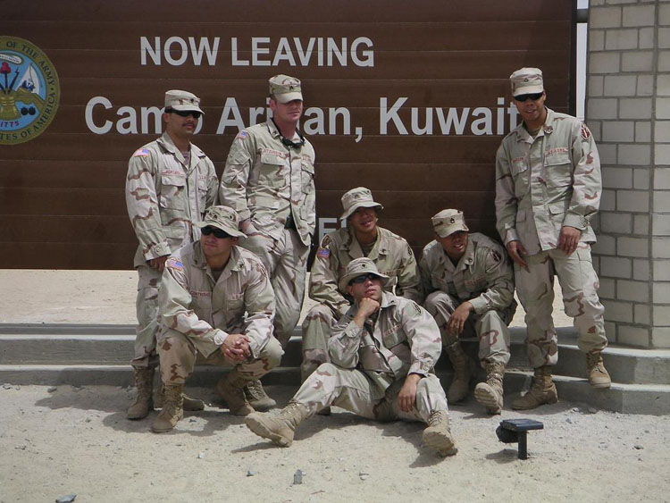 Iraq War Photo. Porcayo. Contreras. Fitz. Urmanita. Sanchez. Lodevico and Roberson.