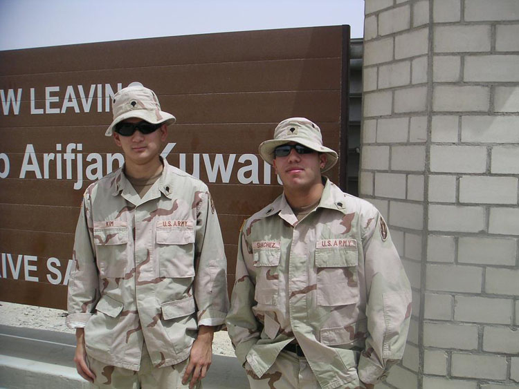 Iraq War Photo. Me and Sanchez. I think this day was at a comfortable 95 degrees.