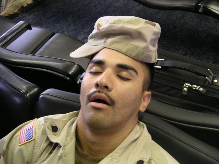 Iraq War Photo. Porcayo is still tired.