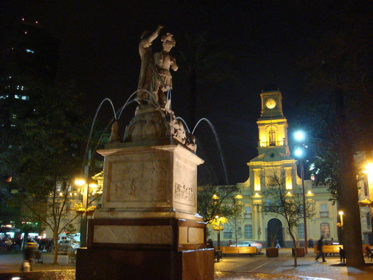 Drive to Chile Photo. This is Plaza de Armas, with a museum behind it.