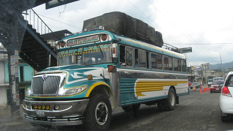 Drive to Guatemala Photo. They sure like to paint their buses around here.  I think United States literally ships over their older yellow school buses, because some of them have the words 'School Bus' written all over it still.