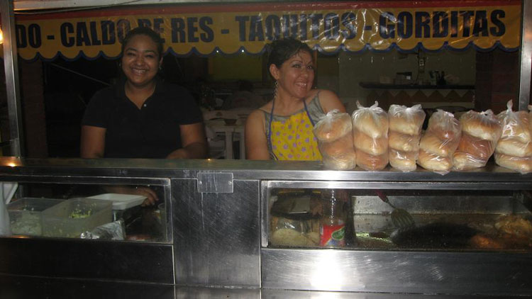 Drive to Mexico Photo. These are the ladies that made the tacos.  Mexicans have been very friendly.