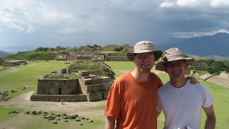 Drive to Mexico Photo. I met Bjorn at Monte Alban, and got to know each other almost immediately.