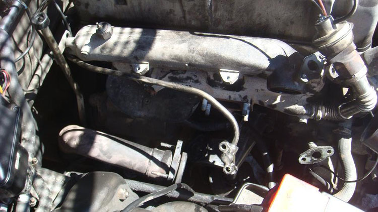 Drive to South America Photo. When I took my turbo out of the car in Cuzco, Peru, the left third of my car had gone empty. This is what it looked like. I didn't want to post it in case my family got too worried. Because it was like this for 3 days and I sure was worried as hell. I want to take this time to finalize the list of things that went wrong with the car. Exhaust hangers broke at least 8 times Rear CV boots cracked open and all 4 had to be replaced in Mexico Front brake pads burned out and had to be found and replaced in Costa Rica Brake master cylinder was leaking and was replaced the part in Ecuador Accelerator was sticking and I had to tie the rod to a tube in Peru Turbo blew out after landing on the front end hard and was repaired in Peru Front windshield started cracking and I drilled a hole to stop it All 4 windows malfunctioned and I had to open the door to pay toll several times Reverse transmission gear failed in Chile Car finally died in Argentina. (a gentleman from mercedesshop.com says similar thing happened to him and killed his 79 300SD due to a cracked crank)