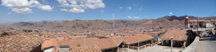 Drive to Peru Photo. If you hike up a bit you can see this wonderful view of Cuzco. It's similar to that of entering Cuzco from the mountaintop via Nazca and Abancay, but a much easier hike.