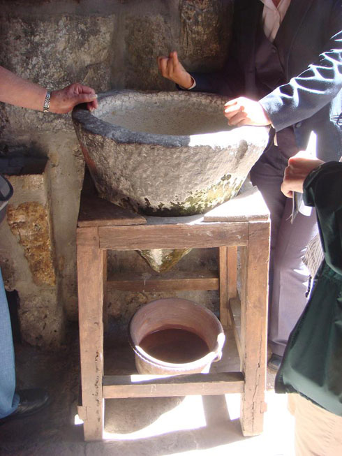 Drive to Peru Photo. This is a water filter made entirely out of volcanic rock. It would filter one liter of drinkable water in 10 hours. I saw a drop of water being filtered into a pot every 3 or 4 seconds. By the way, Arequipa lies just a few miles away from a volcano.
